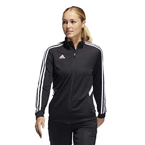 (adidas Women's Alphaskin Tiro Training Jacket, Black/White, X-Small)