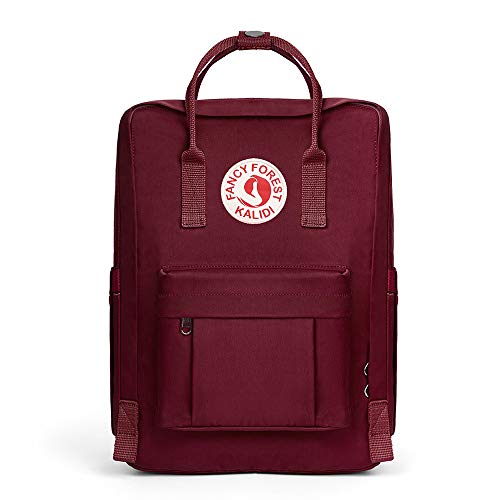 KALIDI Casual Backpack for Women,15 Inches Laptop Classic Backpack Camping Rucksack Travel Outdoor Daypack College School Bag (Wine Red)
