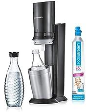 SodaStream Crystal 2.0 actiepakket bruiswatertoestel, titanium, incl. 3 glazen flessen