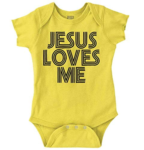 Jesus Loves Me Christian Christ Cute Funny Romper Bodysuit