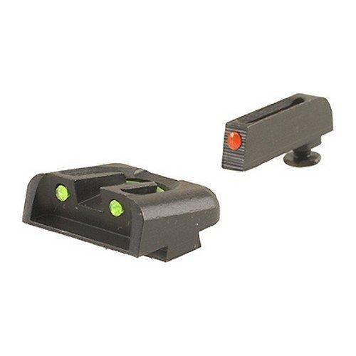 TRUGLO Fiber Optic Handgun Sight Set - Glock High Red/Green