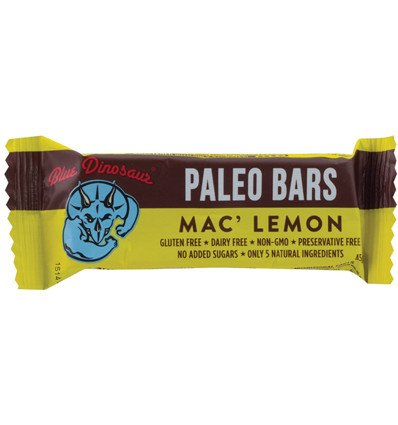 Blue Dinosaur Paleo Bar Mac Lemon 45g x 12
