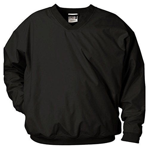 Badger Sportswear Men's V-Neck Windshirt, black, - Windshirt Microfiber