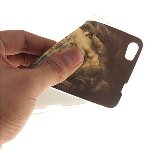 Scratch Silicone Peint Motif Téléphone Hozor Souple 6 Bord Antichoc De Fit Cas Honor Résistant Lion Huawei TPU Slim De Transparent Protection Cas En Arrière Couverture fXHnzZH