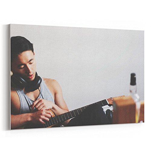 Westlake Art - Man Guitar - 24x36 Canvas Print Wall Art - Ca