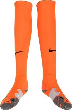 Nike - Calcetines de fútbol sala, tamaño M, color safety naranja/negro