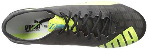 Puma Heren Evospeed Sl Fg Sneaker Zwart / Safety Yellow