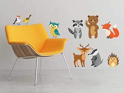 Forest Animals Fabric Decals including