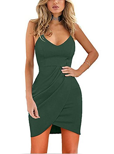 Night Women's Tankoo Sleeveless Elegant Sexy Green Backless Straps Spaghetti Dresses PF0gxnv