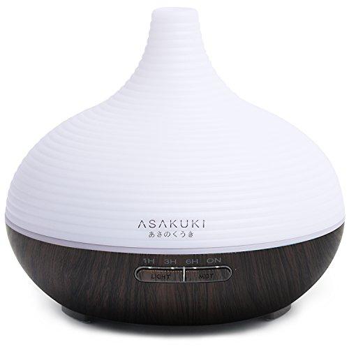ASAKUKI 300ML Premium, Essential Oil Diffuser, Quiet 5-In-1