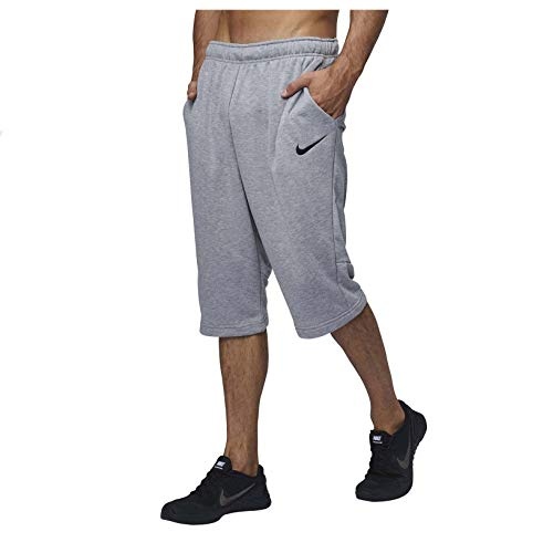 Nike 13 Inch Shorts - NIKE Mens Dry Fleece Shorts, Size: XL, Dark Grey Heather/Black (X-Large, Dark Grey Heather/Black)
