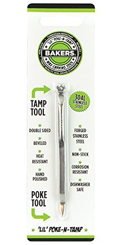 BAKERS Wax Carving Tool - Medical Grade Non Stick Stainless Steel (#2 Lil' Poke-N-Tamp)