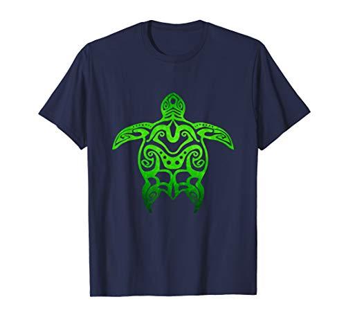 Tribal Hawaiian Green Sea Turtle T-Shirt