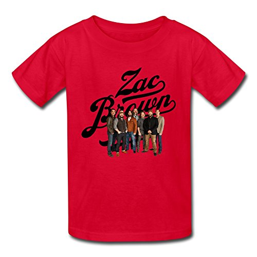 AOPO Zac Brown Band Tshirts For Kids Unisex Medium Red - Cute Kids Halloween Recipes