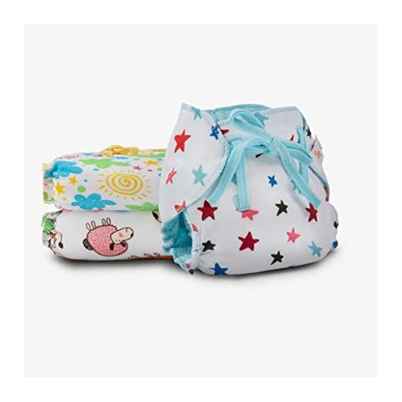 SuperBottoms Dry Feel Langot - Pack of 3-Organic Cotton Padded langot with Gentle Elastics & a SuperDryFeel Layer on top