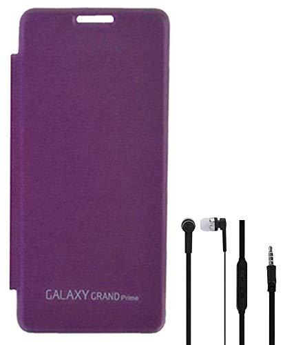 the best attitude 1061b 70ae3 RRTBZ Flip Cover Case for Samsung Galaxy Grand Prime G530h with Earphone  -Purple