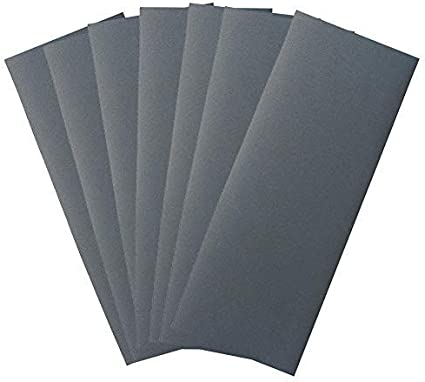 """5.5/"""" X 9/"""" Wet or Dry Waterproof Silicon Carbide Sandpaper 50 Pack, 400 Grit"""