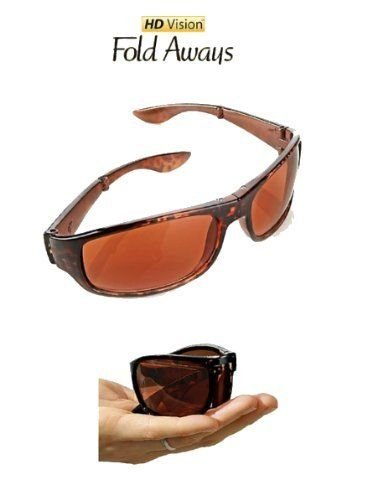 HD Vision Fold Aways High Definition Sunglasses Deluxe- Single - As Seen Sunglasses Definition Tv High On