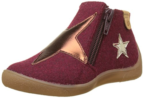 Chaussons Marilyn Fille Montants Babybotte 358 Rouge bordeaux TZwFF