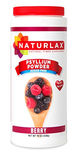 Supplement Free Flavored Fiber Sugar - Naturlax Berry Flavored Psyllium Husk, Fiber Supplement (19 Ounce)