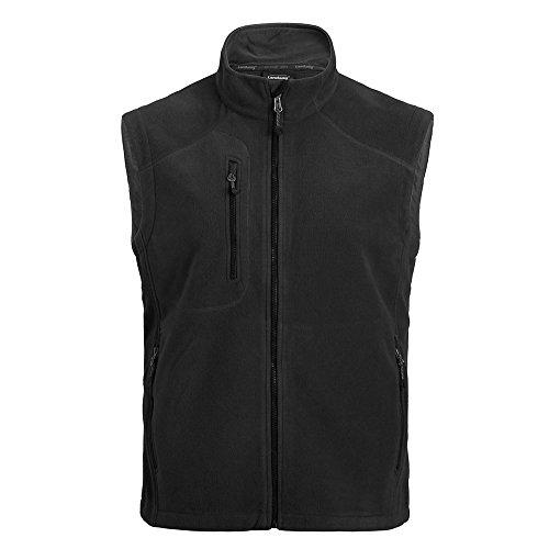 Landway Men's Bonded Fleece Windproof Vest, Black, Large