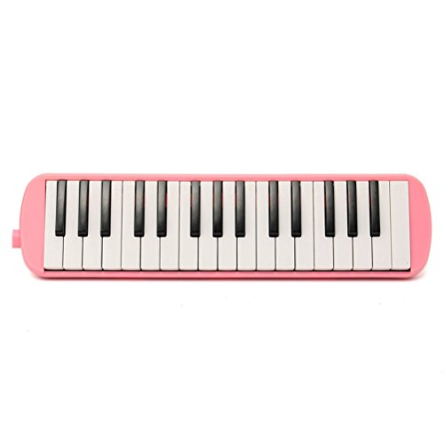 32 Key Melodica ROSENICE Piano Harmonica With Carrying Bag (Pink) by ROSENICE