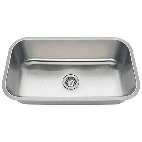 MR Direct 3218C 16-Gauge Undermount Single Bowl Stainless Steel Kitchen Sink