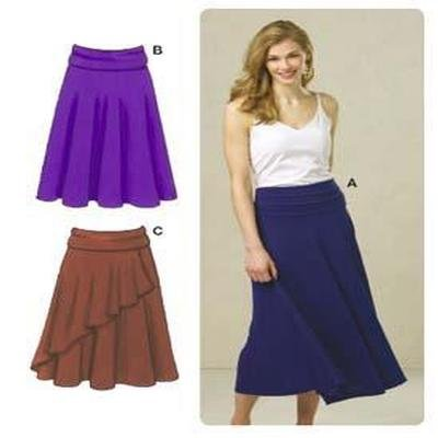 Amazon Kwik Sew Misses Fold Over Waist Knit Skirts Pattern