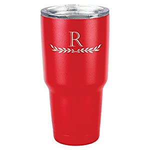 Froolu Insulated Water Bottle - Red Personalized Laser Engraved Tumbler - Hydro Travel Cup Flask