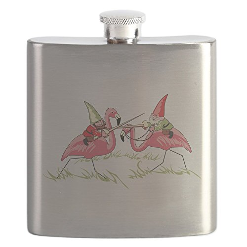 CafePress - Gnomes - Stainless Steel Flask, 6oz Drinking Flask