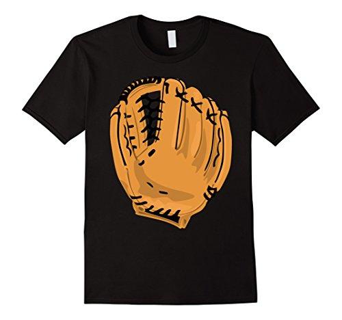 Mens Baseball Glove Mitt Costume Shirt Fielding First Base Medium Black