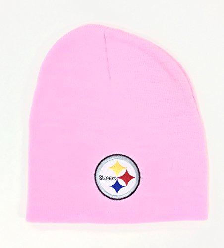 NFL Pittsburgh Steelers Womens Pink Cuffless Knit Beanie Hat Ski Skull Cap Lid Toque