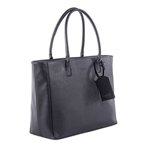 (Bugatti Pink Lady Ladies Tote Bag, Synthetic Saffiano Leather,)