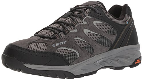 Hi-Tec Men's V-LITE Wild-FIRE Low I Waterproof Hiking Shoe, Charcoal/Grey/Olive Night, 110M Medium US ()