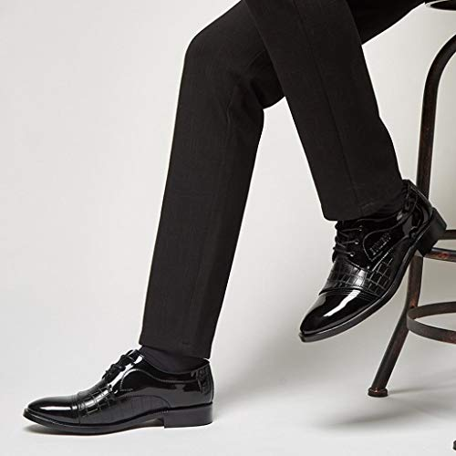 En Zapatos 47 Cordones Logobeing Piel Zapatos de 2019 con Vestir Modernos Cordones Negro Zapatos y Zapatos Forrados Oxford Hombre 38 de Boda qAT7pxwp