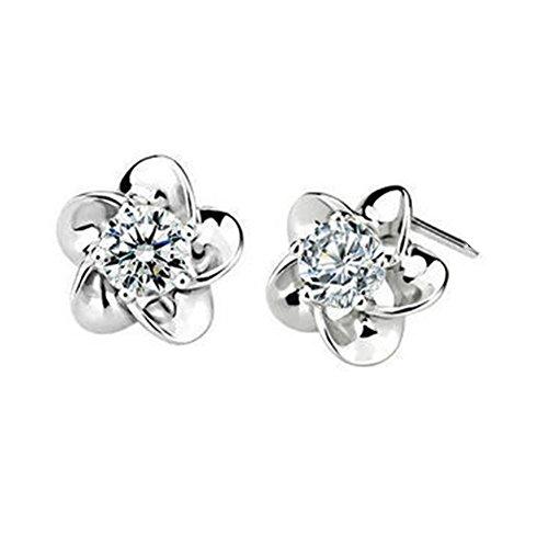 Hemss Women Plated Daisy Earrings Pendant(C1)