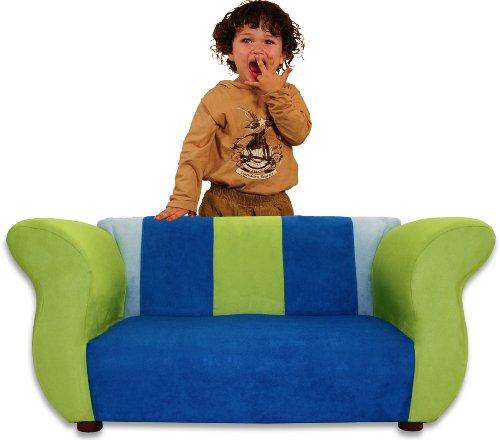 KEET Fancy Kid's Sofa, Blue/Green