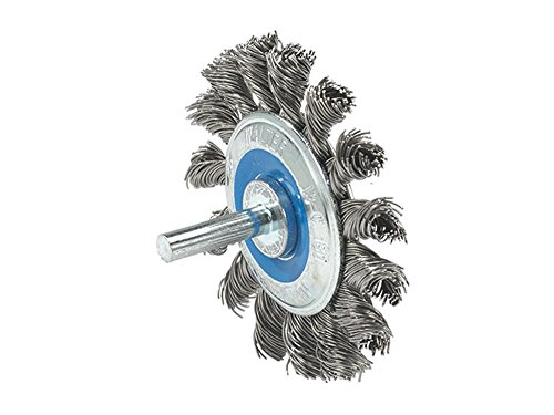 Walter 13C130 Mounted Wire Brush - Die Grinder Brush with Knot Twisted Wires, Steel Construction. Power Brushes -