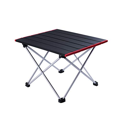 (Foldable Portable Aluminum Table with Carry Bag for Outdoor Camping, Hiking and Picnic)