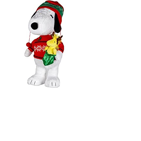 2013 Peanuts Snoopy & Woodstock Plush Christmas Holiday Porch Greeter 22