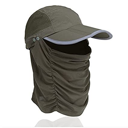 397d4795e79 CellCase Visor Sun Caps Hats Reflective Cap Foldable Detachable  Quick-drying Anti-mosquito Mask Hat with Head Net Mesh Face UV Sun  Protective for Man Women ...
