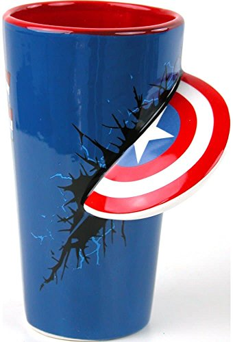 captain america glass cup - 2