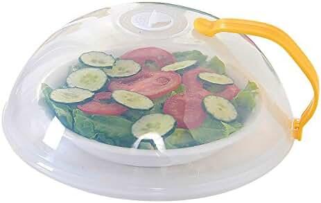Anti-Sputtering Cover Doinshop Microwave Food Multifunction Splatter Guard (Yellow)