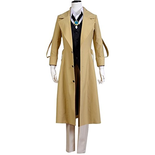 Costhat Bungo Stray Dogs Osamu Dazai Suit Cosplay Costume (Singapore Cartoon Costume)