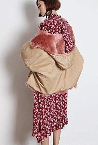 Puro Lunga Moda Trapuntata Eleganti Giacca Invernali Giacche Giaccone Khaki  Autunno Cappotto Festivo Grazioso Spesso Outerwear ... dd2599f59d36