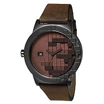 TACS Pixel Analog Brown Dial Unisex Watch -TS1302B