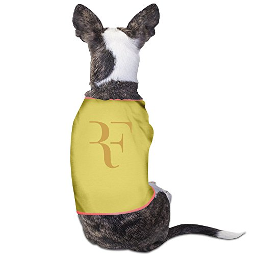 GDFEH Roger Federer Logo Daily Pet Dog Clothes T-shirt Coat Pet Puppy Dog Apparel Costumes New Yellow L ()