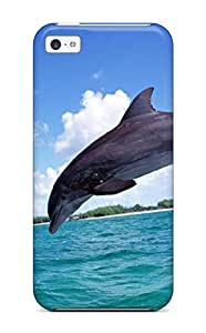 Excellent Design Dolphins Case Cover For Iphone 5c