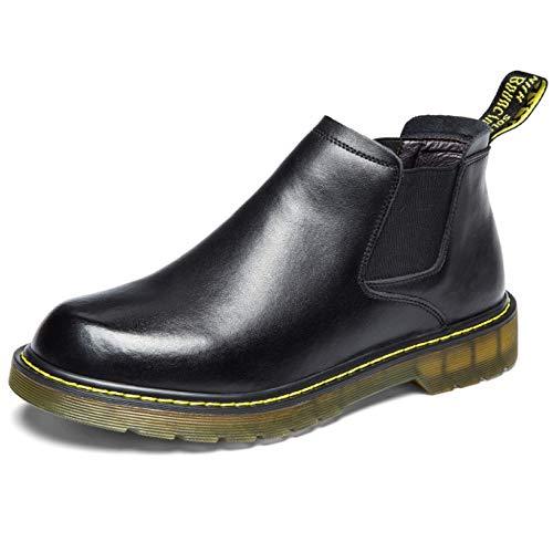Botas Redonda Zapatos Utilidad Otoño Trabajo Punta Work Chelsea Botines Para Hombre Boot Business Black Fcbdxn Cuero Calzado Desert Tobillo De dZTdzx
