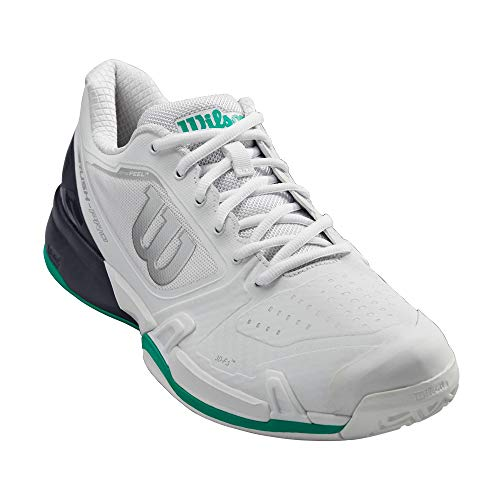 Wilson RUSH PRO 2.5 2019 Tennis Shoes, White/Ebony/Deep Green, 13